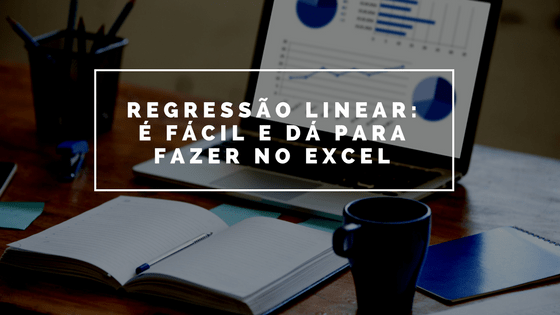 regressão linear no Excel
