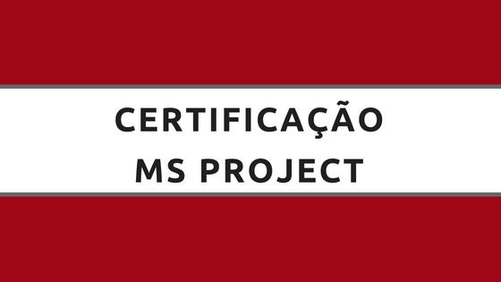 certificação ms project