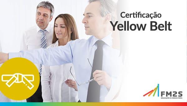Banner de certificação Lean seis sigma, por exemplo, Yellow Belt