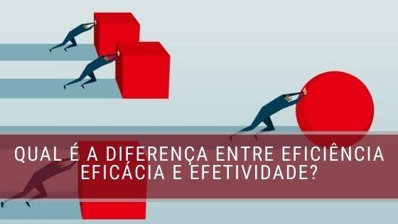 Eficiência eficácia e efetividade