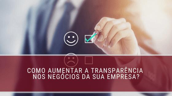 transparência nos negócios
