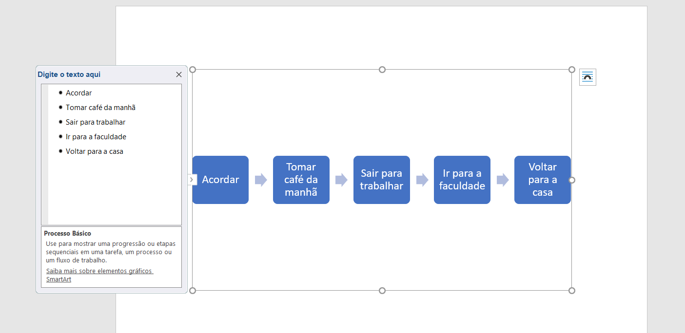 como fazer fluxograma no word3