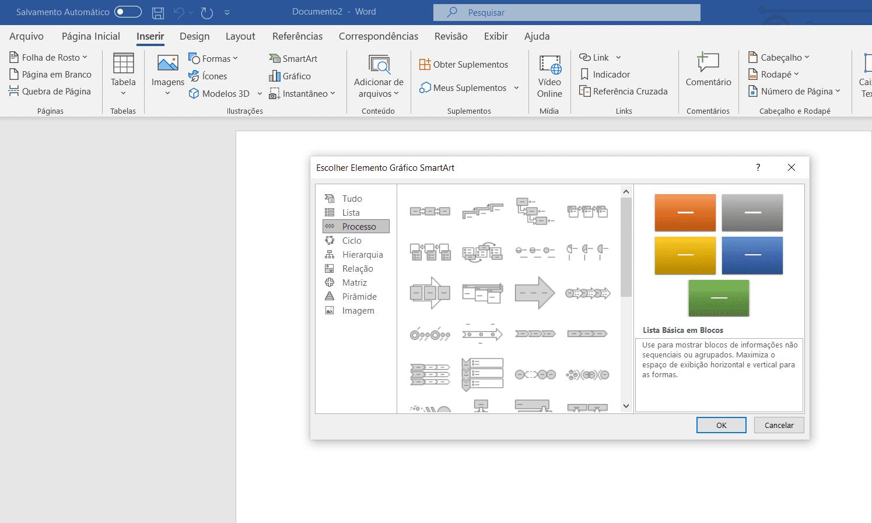 como fazer fluxograma no word1