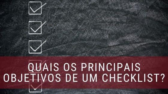 objetivos de um checklist