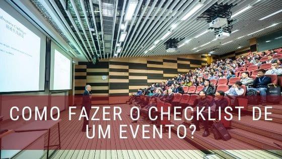 Checklist evento