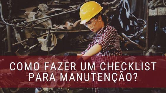 checklist para manutenção